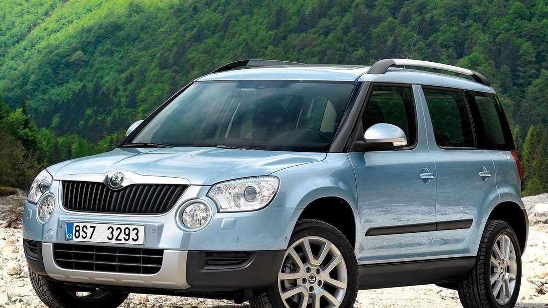 Škoda Yeti: Kompaktes SUV im Flussbett