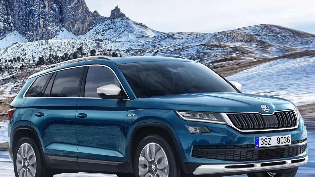 Škoda Kodiaq in der Off-Road-Version Scout