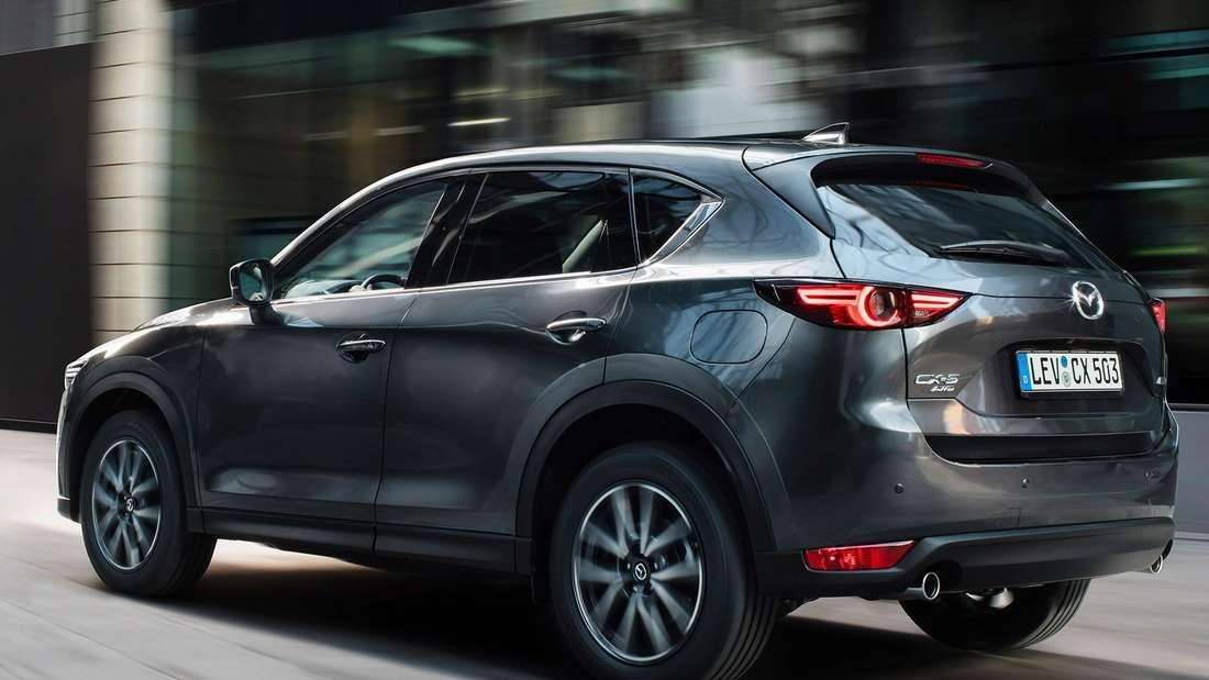 Heckansicht des Mazda CX-5 in der zweiten Generation