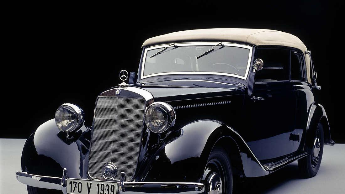 Studioaufnahme des Mercedes-Benz Typ 170 V Cabrio von 1939