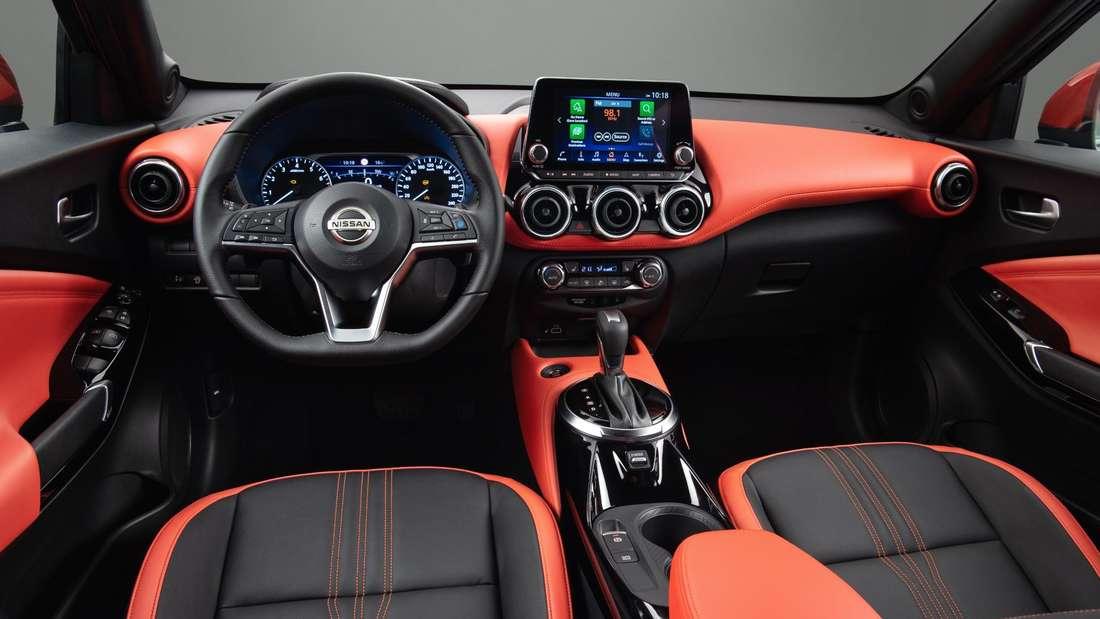 Blick in den Innenraum des Nissan Juke der zweiten Generation.