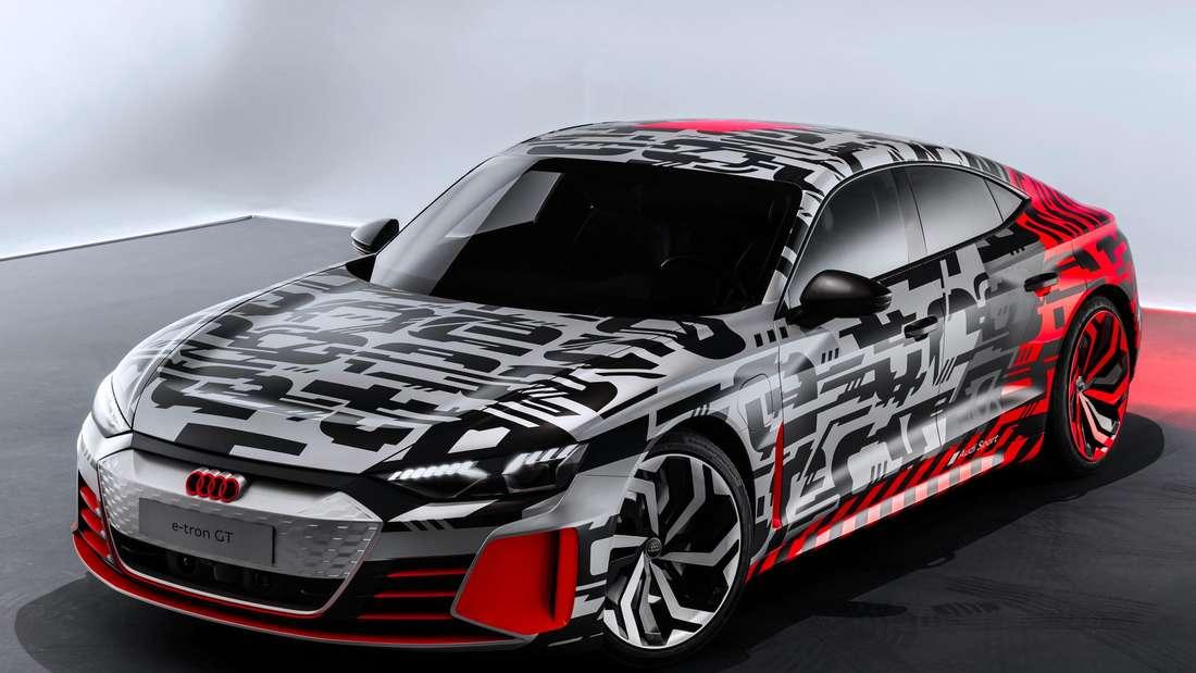 Studioaufnahme des Audi E-Tron GT