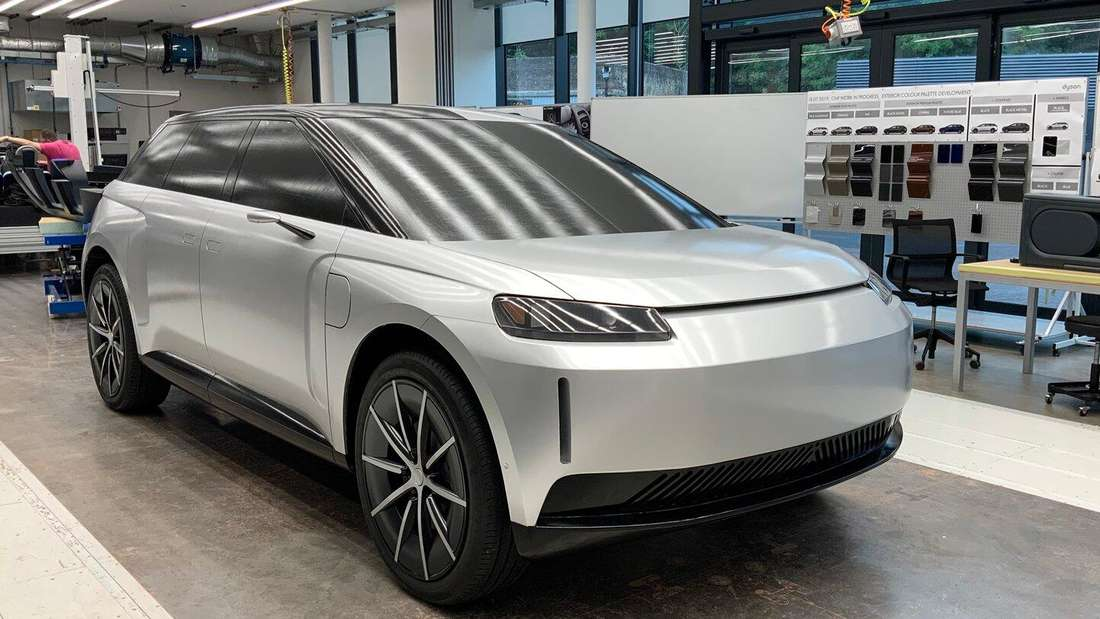 Ein Design-Modell des Elektro-SUV Dyson EV.