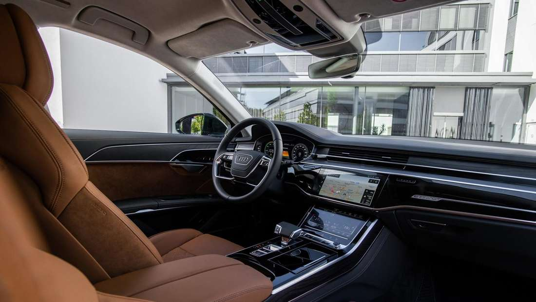 Innenraum eines Audi A8 60 TFSIe Quattro (Plug-in-Hybrid).