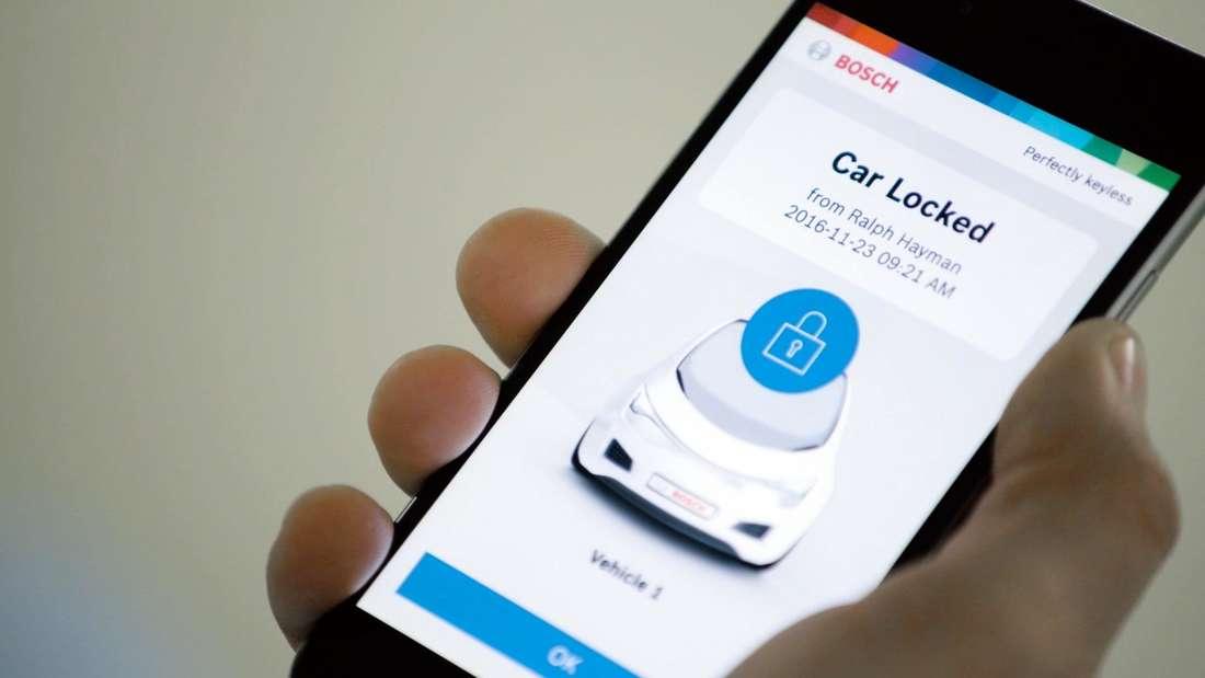 Eine App von Bosch, die schlüssellosen Zugang zum Auto bietet.