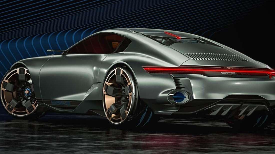Porsche Cyber 677 von schräg hinten
