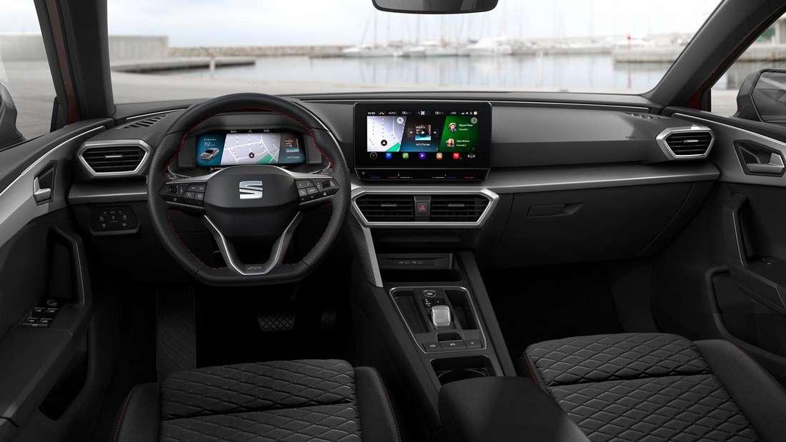 Cockpit-Aufnahme eines Seat Leon