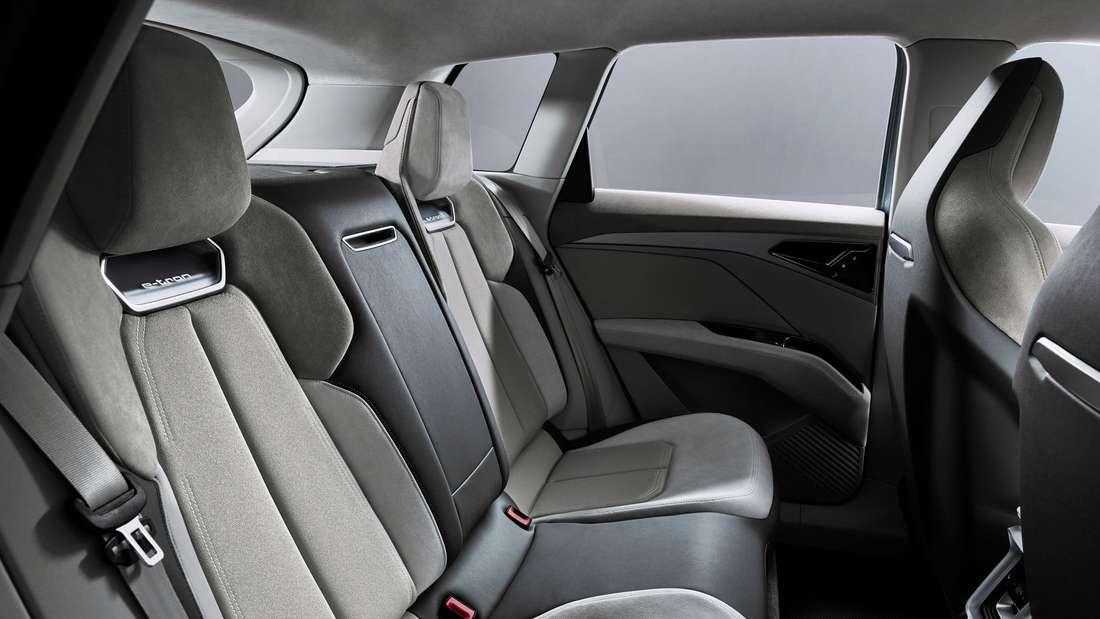 Blick auf die Rückbank des Audi Q4 Sportback e-tron concept.