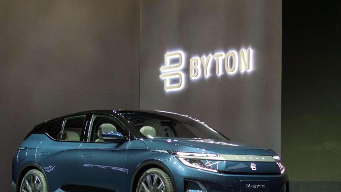 Die Serienversion des SUV-Modells M-Byte des Elektroauto-Herstellers Byton steht auf der Technik-Messe CES. Byton hat inzwischen 60.000 Reservierungen für sein erstes Modell bekommen. Foto: Andrej Sokolow/dpa