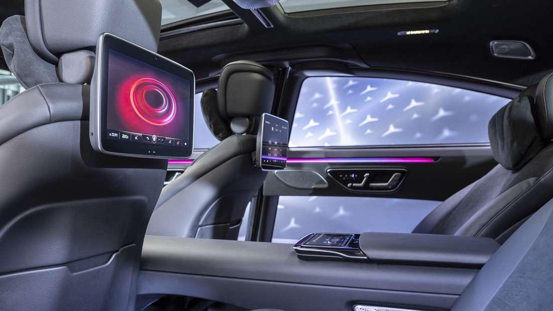 Blick in den Fond der neuen Mercedes-Benz S-Klasse (W223).