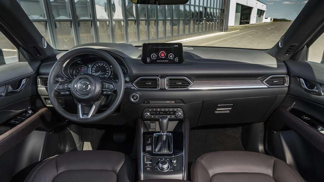 Blick in den Innenraum des Mazda-CX-5 nach dem Facelift.