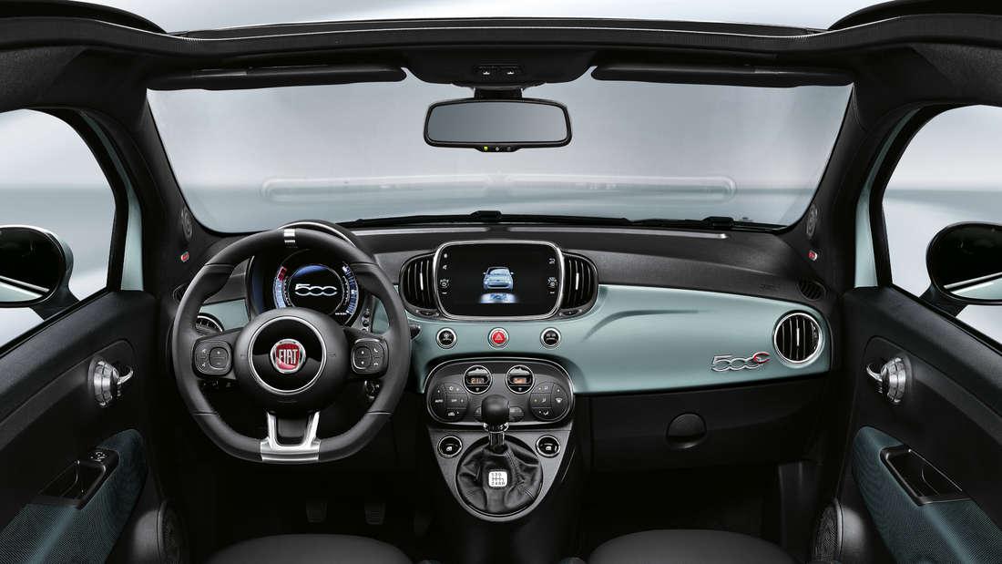 Fiat 500 C Hybrid Innenraum