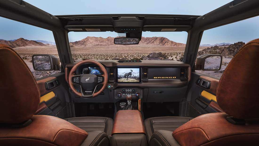 Blick in den Innenraum des neuen Ford Bronco.