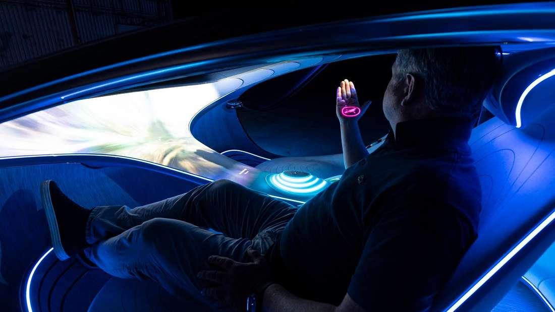 Innenraum des Mercedes Vision AVTR
