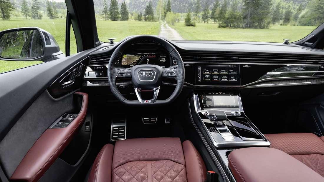 Blick in den Innenraum eines Audi SQ7