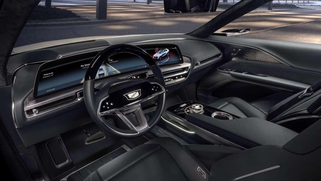 Blick in den Innenraum des Cadillac Lyriq.