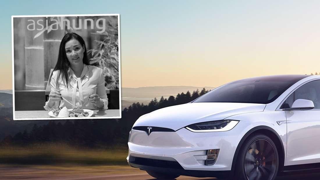 Ein Tesla Model X, ein Porträtbild von Thi Thanh Xuan Pham (Symbolbild).