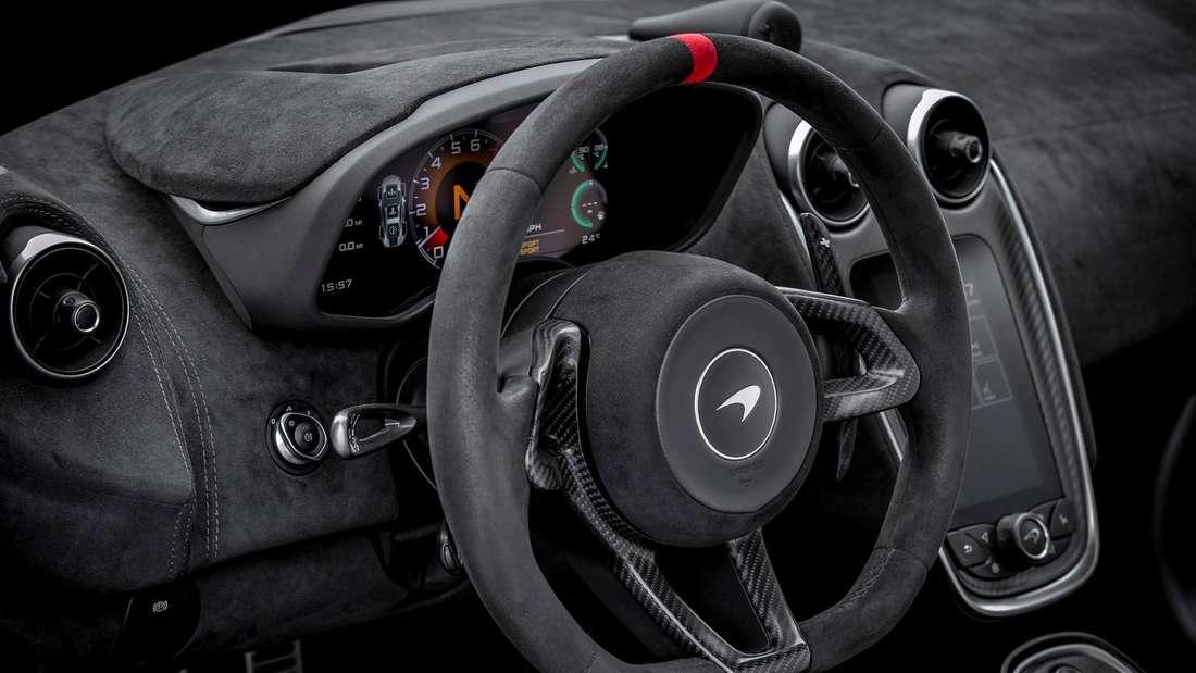 Cockpitaufnahme eines McLaren 620R