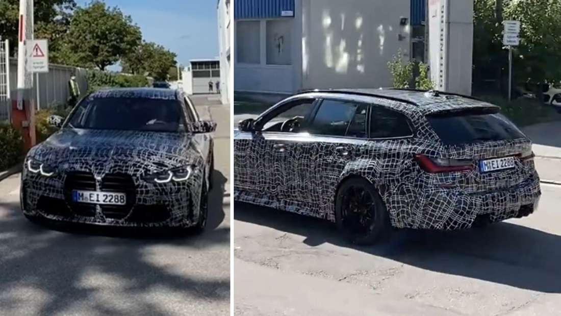 Fahraufnahmen des BMW M3 Touring.