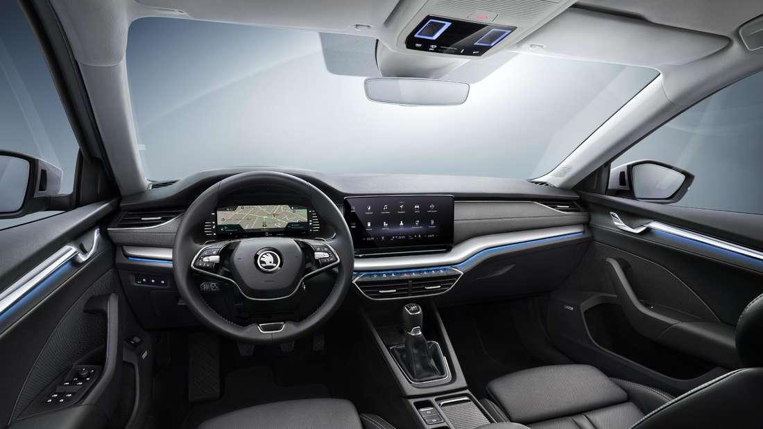 Blick in den Innenraum eines Škoda Octavia.