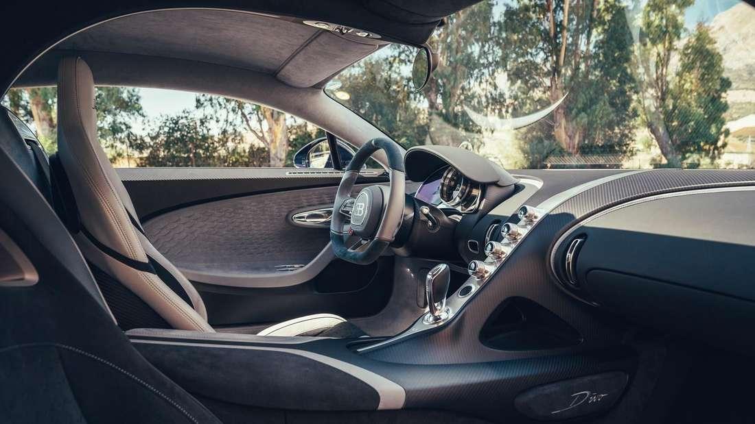 Cockpitaufnahme eines Bugatti Divo