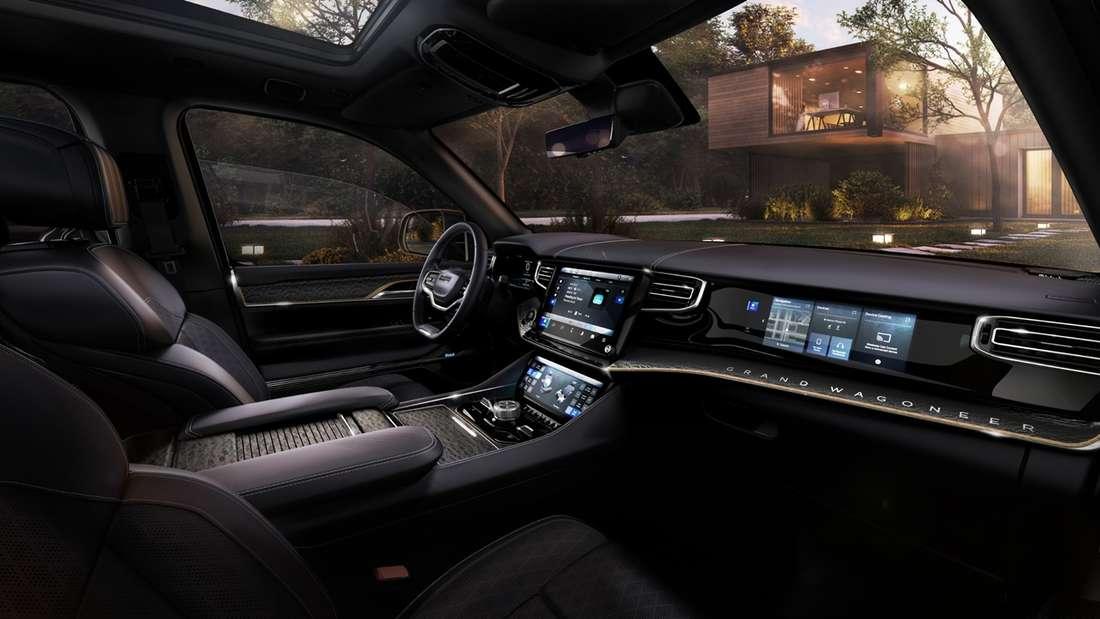 Innenraum des Concept Car Grand Wagoneer