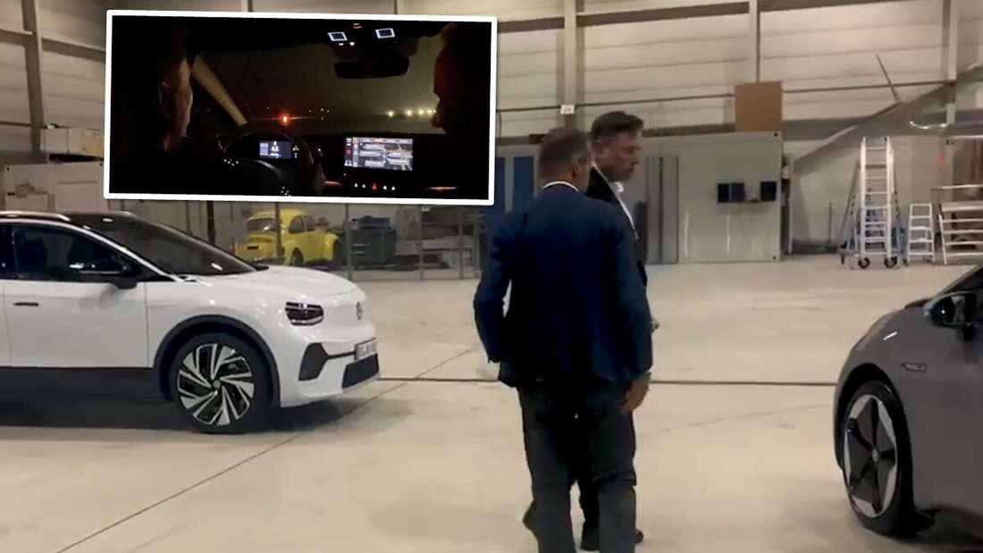 VW-Chef Herbert Diess und Tesla-Boss Elon Musk.