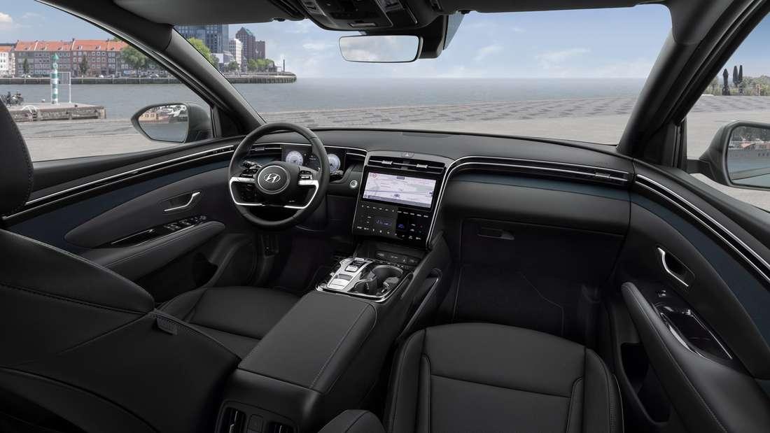 Cockpit-Aufnahme eines Hyundai Tucson