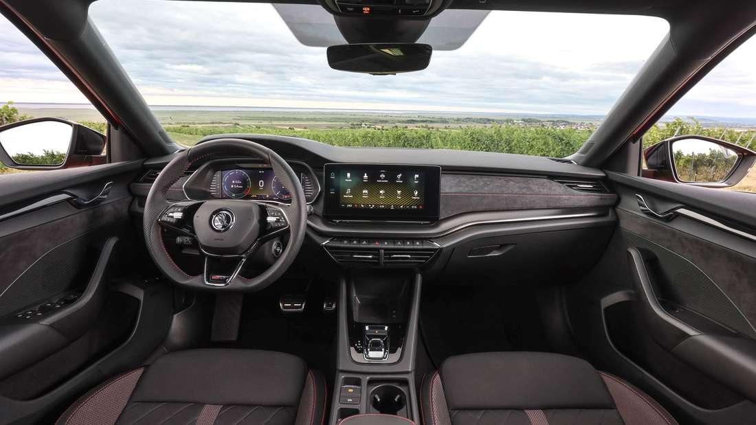 Cockpit-Aufnahme eines Škoda Octavia RS iV