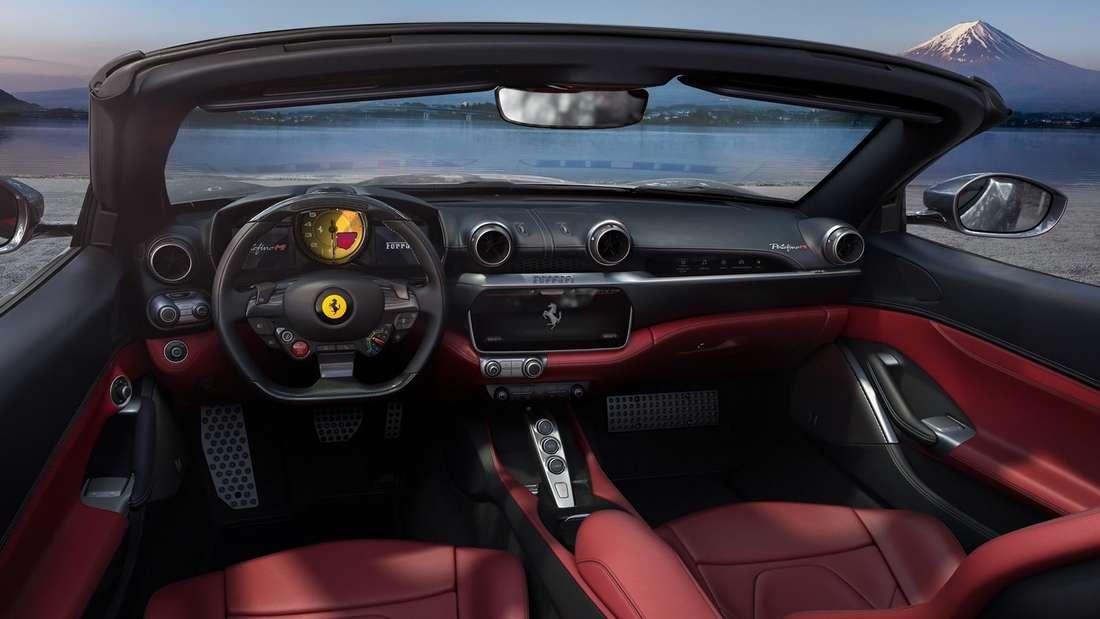 Cockpit-Aufnahme eines Ferrari Portofino