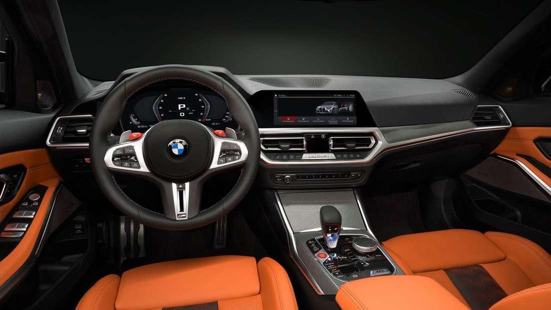 Cockpit-Aufnahme eines BMW M3