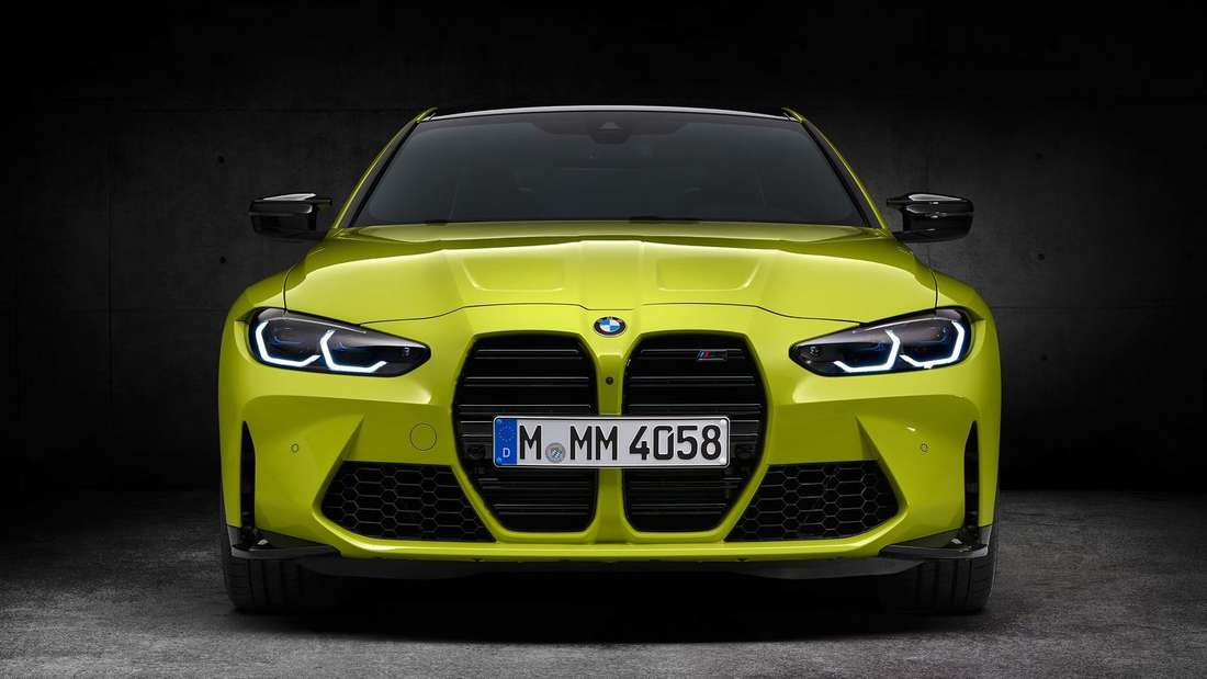 Die Front eines BMW M4.