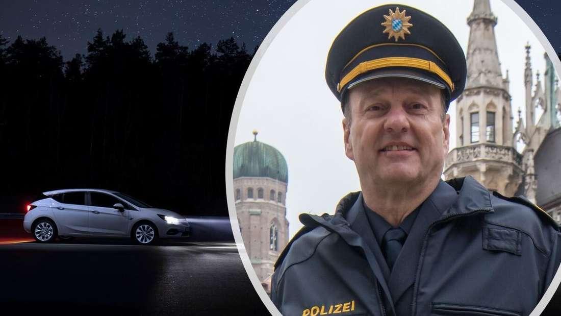 Ein Opel Astra der aktuellen Baureihe und Münchens Polizeipräsident Hubertus Andrä (Symbolbild)