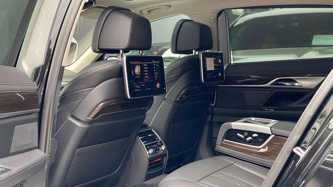 Innenraum des BMW 7er des österreichischen Präsidenten Alexander Van der Bellen.