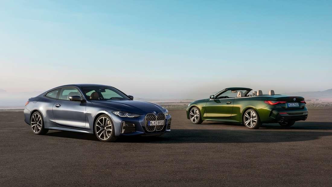 Standaufnahme vom BMW 4er als Coupé und Cabrio