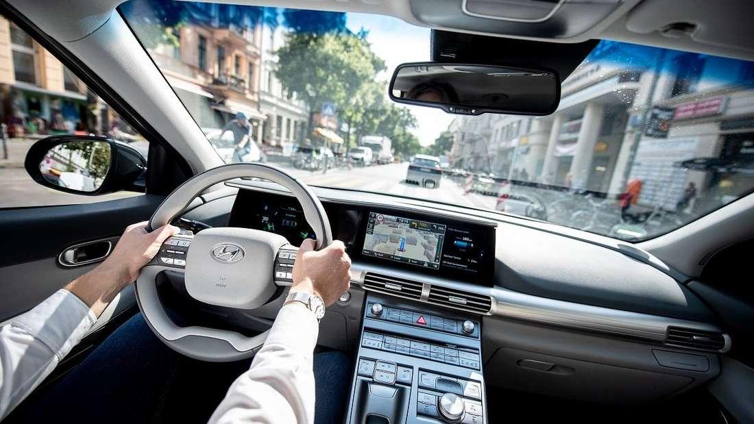 Navigations- und Entertainmentsystem in einem Hyundai