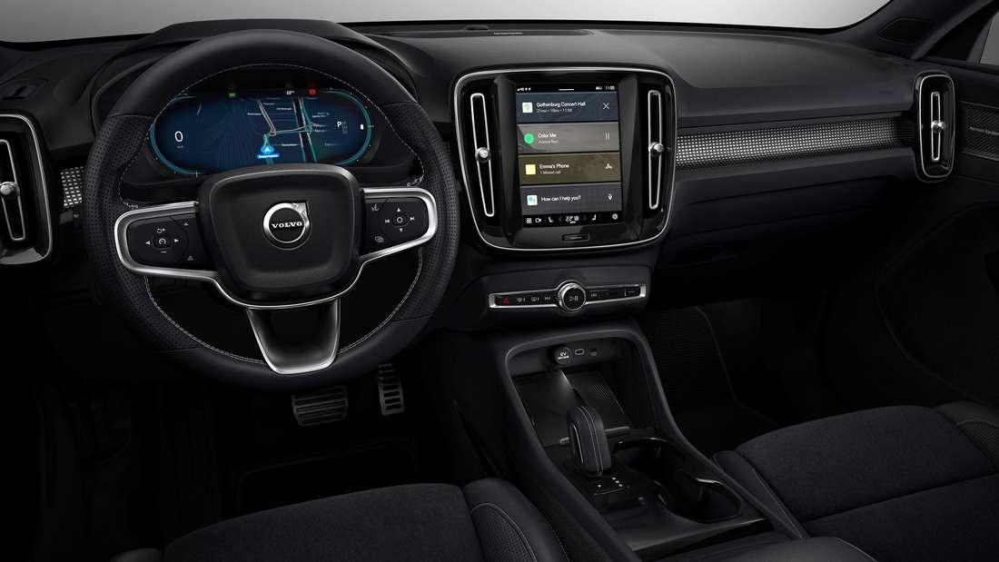Cockpit-Aufnahme eines Volvo XC40 Recharge P8 AWD