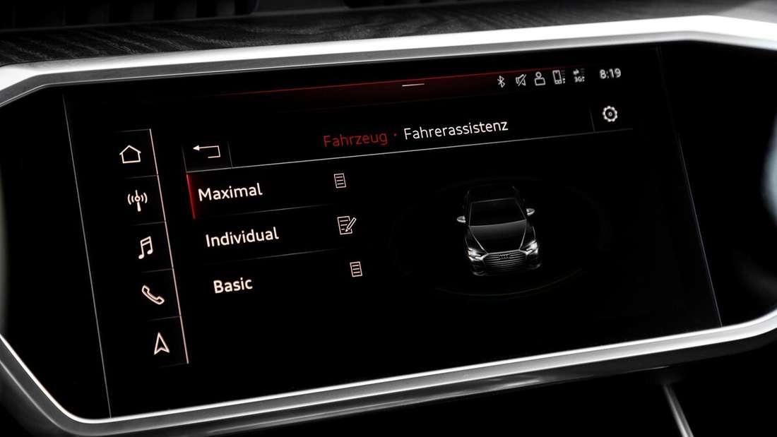 Detailaufnahme eines Audi-Zentraldisplays