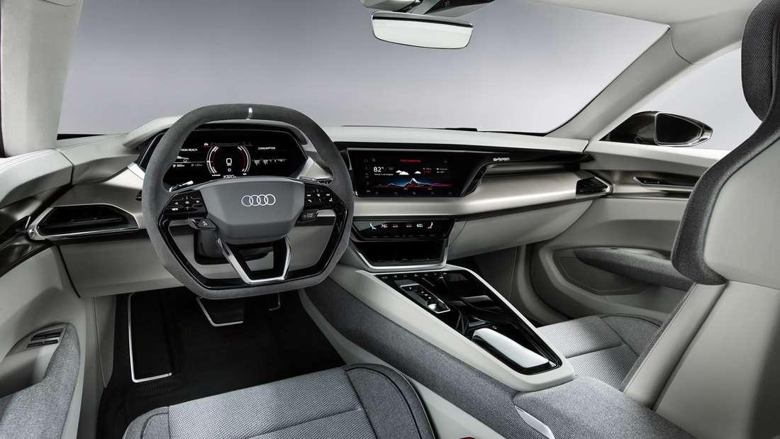 Cockpit-Aufnahme eines Audi E-Tron GT
