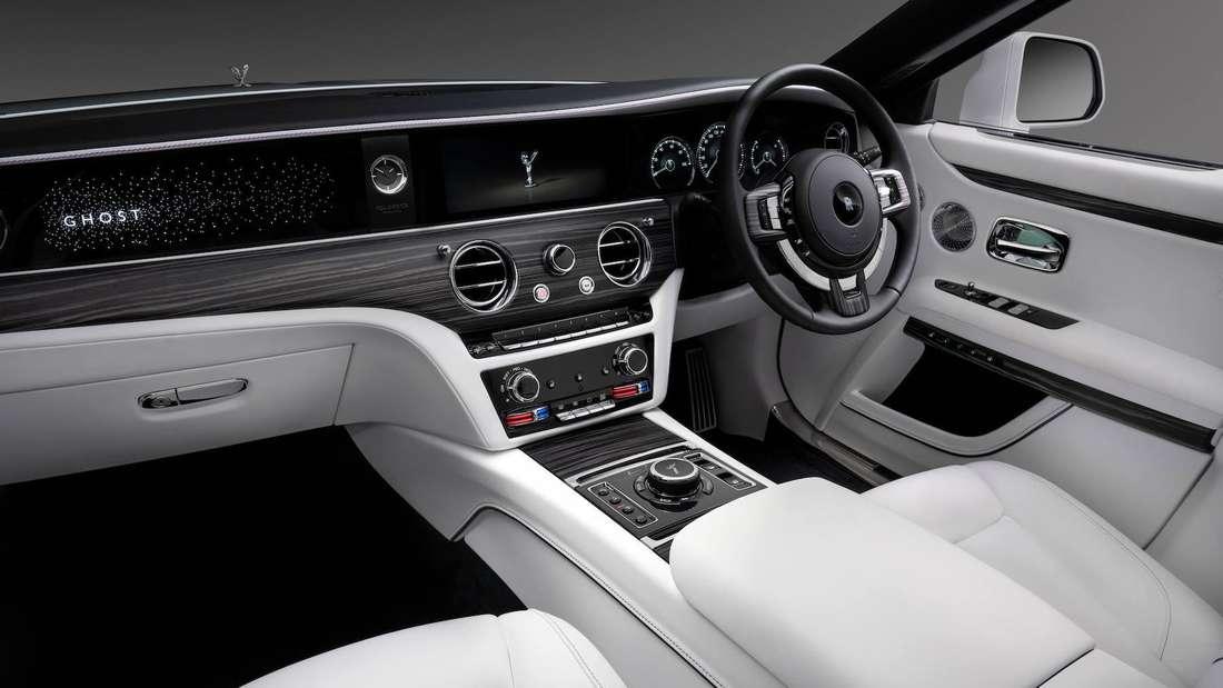 Cockpit-Aufnahme eines Rolls-Royce Ghost