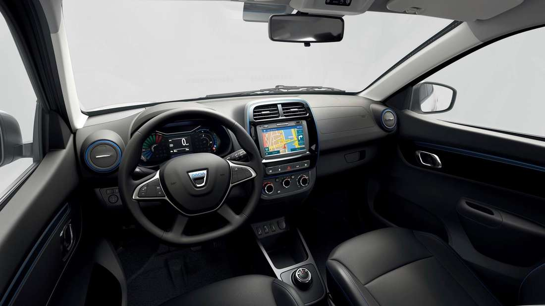 Cockpit-Aufnahme eines Dacia Spring Electric
