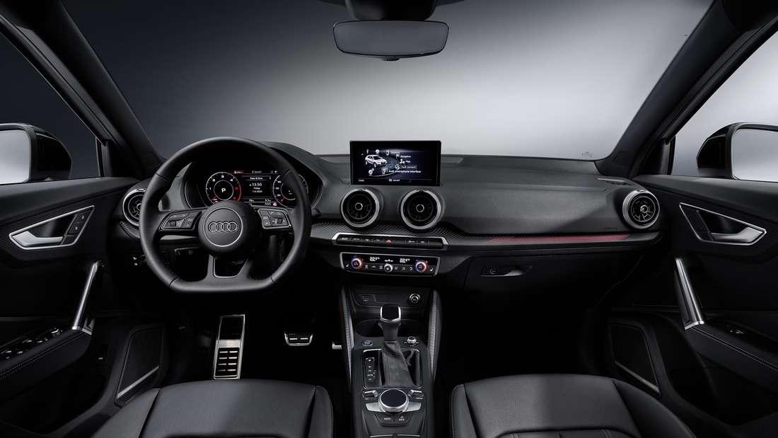 Cockpit-Aufnahme eines Audi Q2 35 TDI Quattro