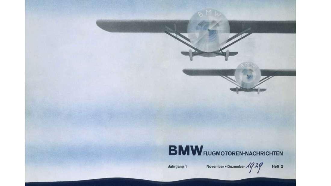 Eine Werbung für BMW-Flugzeugmotoren aus dem Jahr 1929