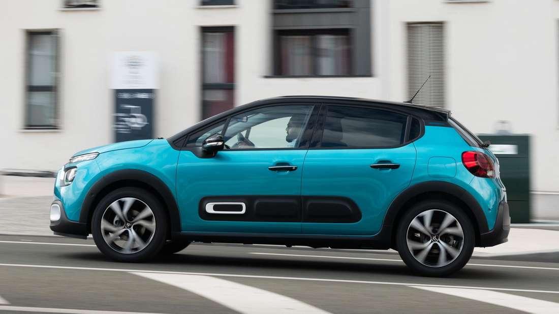 Fahraufnahme eines Citroën C3 im Profil