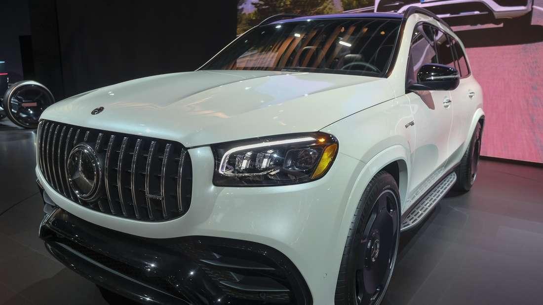 Ein Mercedes-Benz AMG GLS 63 wird bei der LA Auto Show 2019 ausgestellt.