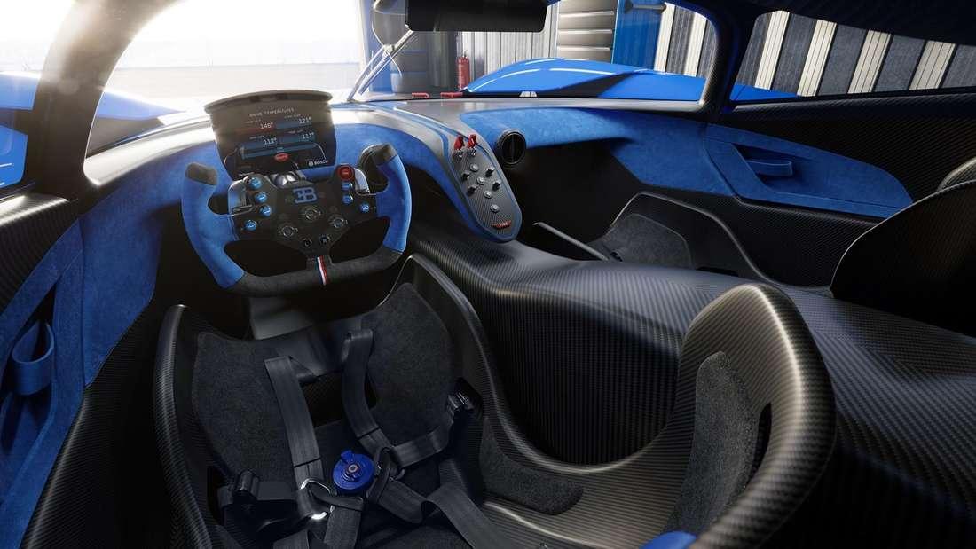 Cockpit-Aufnahme eines Bugatti Bolide