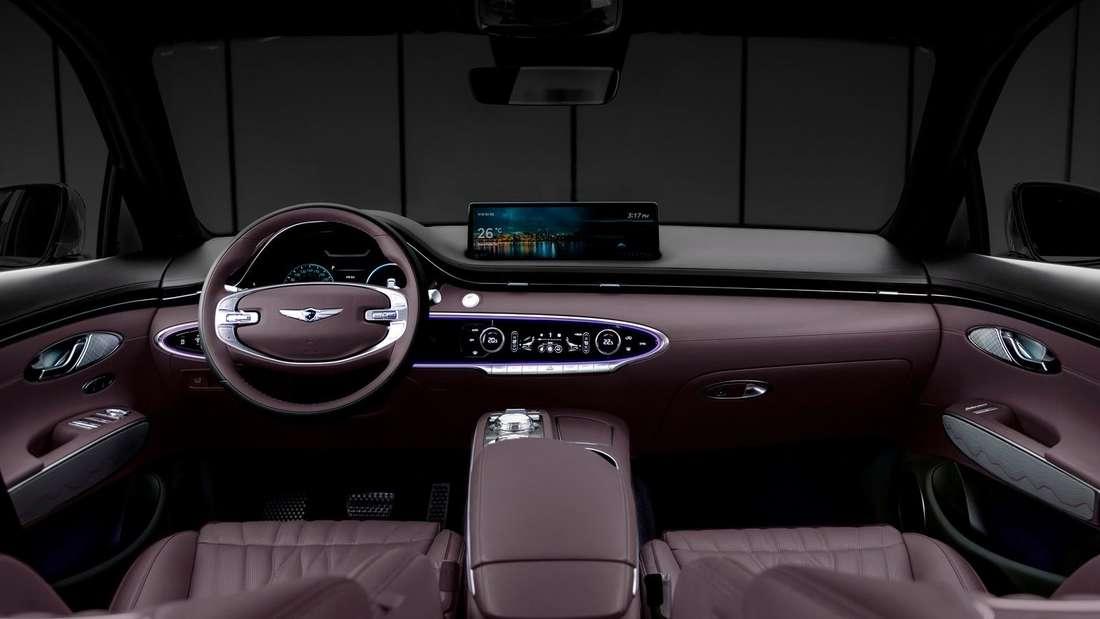 Cockpit-Aufnahme eines Genesis GV70