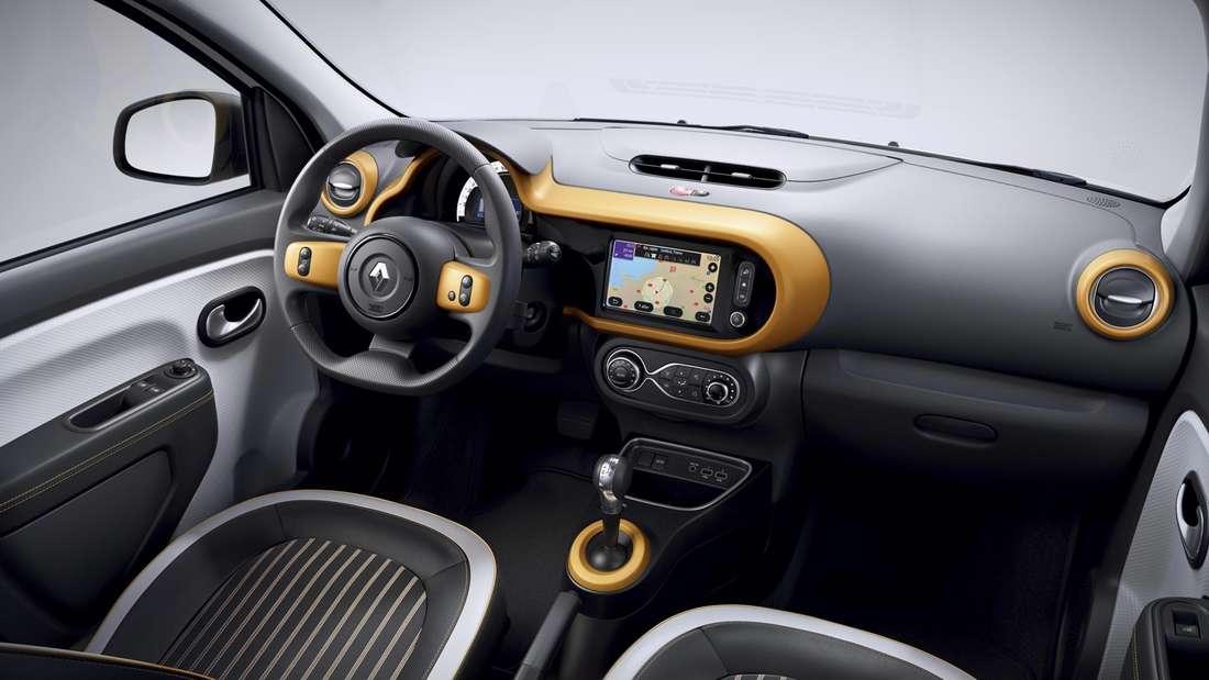 Blick in den Innenraum eines Renault Twingo Electric
