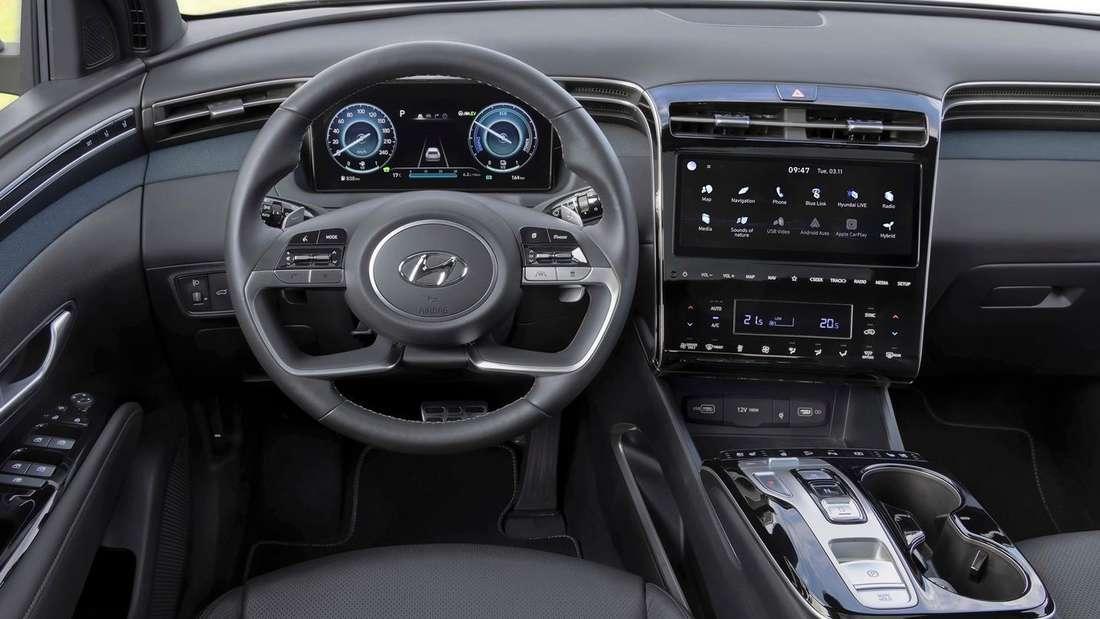 Blick in den Innenraum des Hyundai Tucson