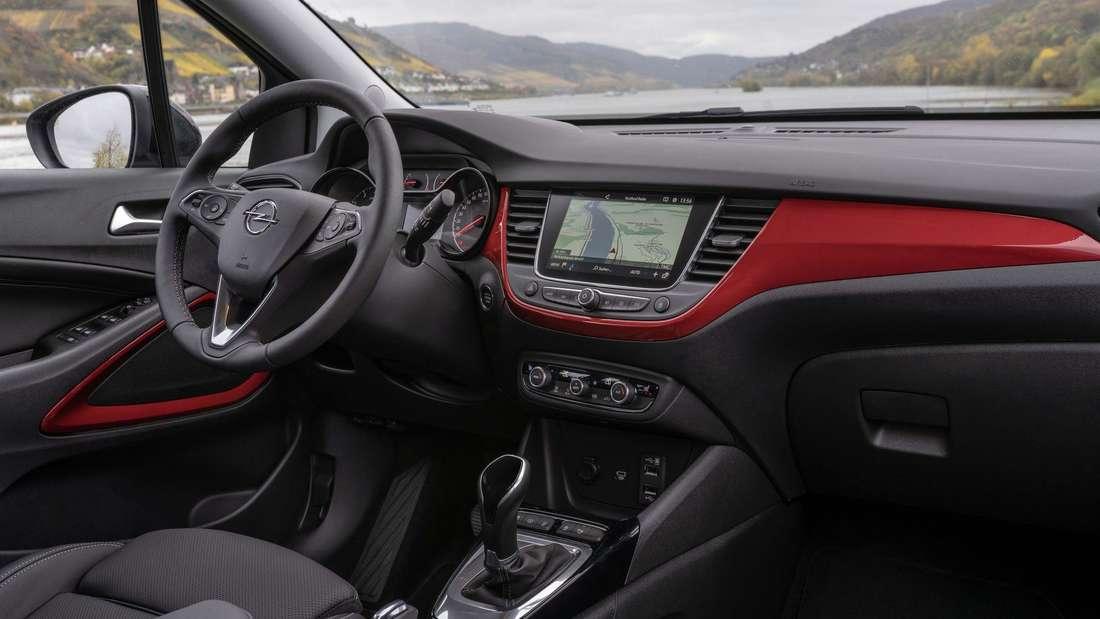 Cockpit-Aufnahme eines Opel Crossland